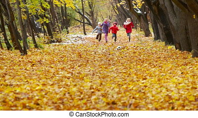 Competitive Runners - Active kids trying to outrun each...