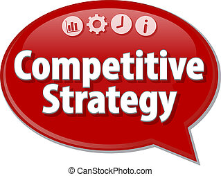 Competitive Strategy Business term speech bubble...
