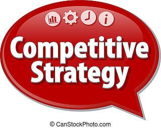 Competitive Strategy Business term speech bubble...