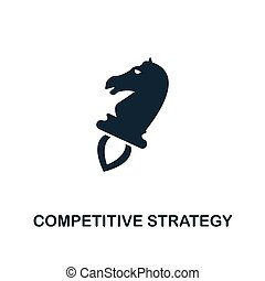 Competitive Strategy icon. Creative element design from business strategy icons collection. Pixel perfect Competitive Strategy icon for web design, apps, software, print usage