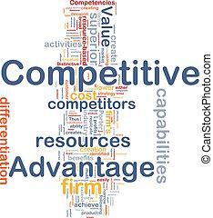 competitivo, concetto, vantaggio, fondo
