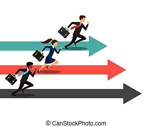 competitivo, empresa / negocio, diseño