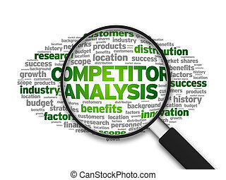 Competitor Analysis - Magnified illustration with the word...