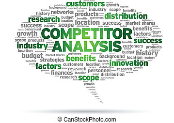 Competitor Analysis word speech bubble illustration on white...
