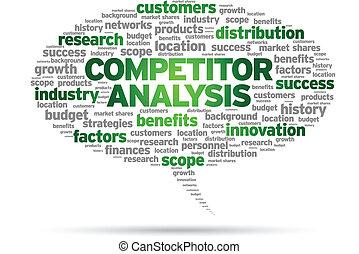 Competitor Analysis word speech bubble illustration on white...