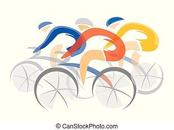 competitors., kolarstwo, droga