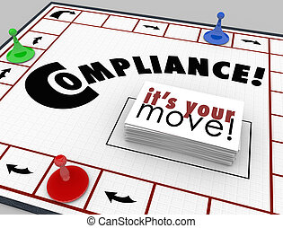 Compilance Board Game Follow Rules Regulations Laws -...