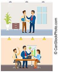 compito, ufficio affari, lavorante, lavorativo, riunione