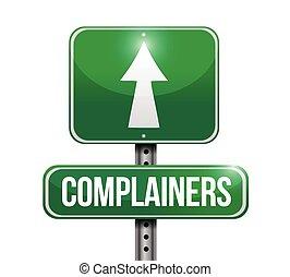 complainers, rua, desenho, ilustração, sinal