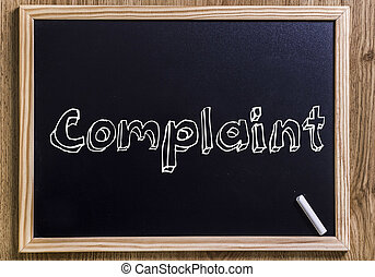 Complaint - New chalkboard with 3D outlined text