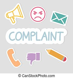 complaint word concept- vector illustration