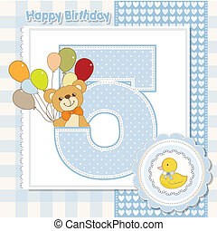 compleanno, anniversario, quinto