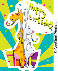 compleanno, cartolina auguri