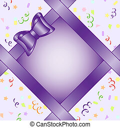compleanno, cornice, illustrazione, arco, tema, vettore, fondo