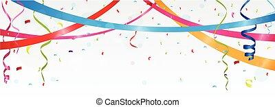 compleanno, e, celebrazione, bandiera