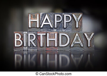 compleanno,  Letterpress, Felice