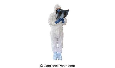 complet, antibactérien, pulmonologist, masque, examine, ...