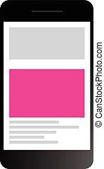 completamente, sensible, sitio web, diseño, a través de,...