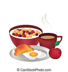 complete breakfast - a complete and delicious breakfast with...