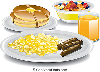 Complete Breakfast - Illustration of a complete and healthy...