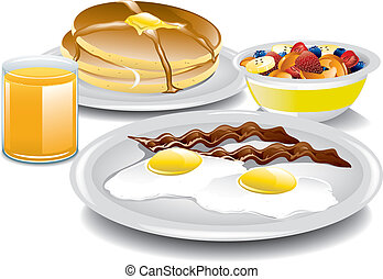 Complete Breakfast - Illustration of a complete and healthy ...