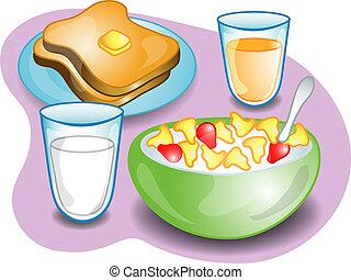 Complete breakfast - Illustration of a complete breakfast ...
