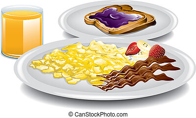Complete Breakfast - Illustration of a healthy complete...