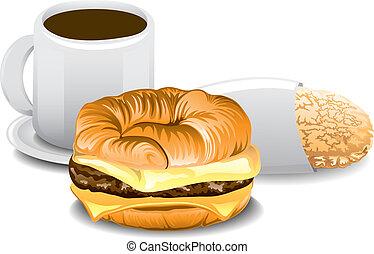 Complete Breakfast - Illustration of a complete breakfast...