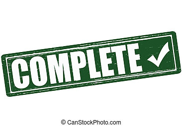 Complete - Stamp with word complete inside, vector...