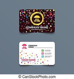 Complete family insurance icon. Umbrella symbol. - Business...
