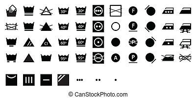 Complete Laundry Symbols Dark
