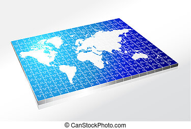Complete Puzzle of World Map
