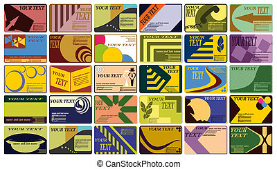 Complete set of business cards. - Complete set of different...