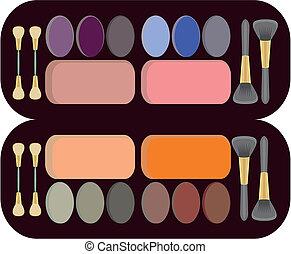 complete set of makeup