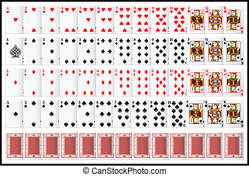 Complete set of Playing Card - illustration of complete set ...