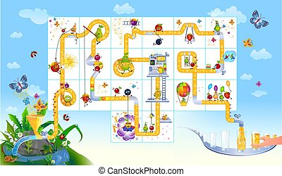 complete the puzzle cafe