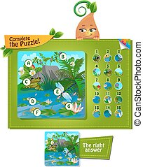 complete the puzzle insects 2