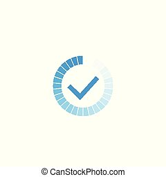 completed progress bar icon on white