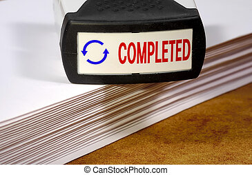 Completed Stamp and Papers