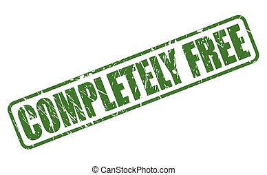 COMPLETELY FREE green stamp text