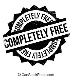 Completely Free rubber stamp. Grunge design with dust...