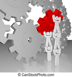 Completing the Job - Teamwork - A team completes the job by...