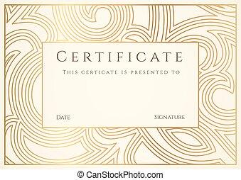 completion., borda, diploma, certificado