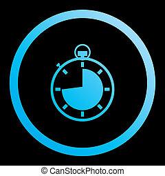 completo, -, isolato, quarti, illustrato, 3, fondo, cronometro, icona