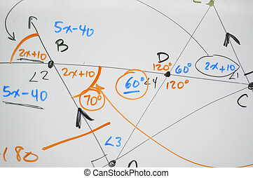 Complex math on whiteboard
