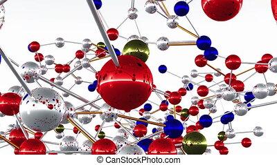 Complex Molecule Structure 03