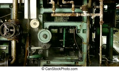 Complex precision machines in operation. Bearing, Axis, ...