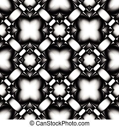 complex seamless pattern of rhombuses