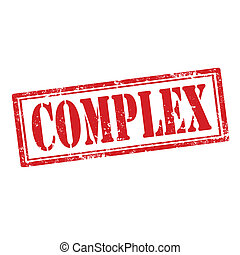 Complex-stamp - Grunge rubber stamp with word Complex, ...