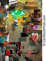complex, surrealistisch, abstracte kunst